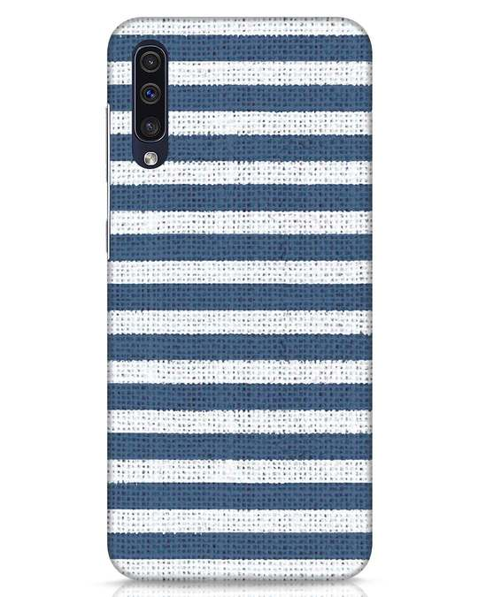 Shop Nautical Stripes Samsung Galaxy A50 Mobile Cover-Front