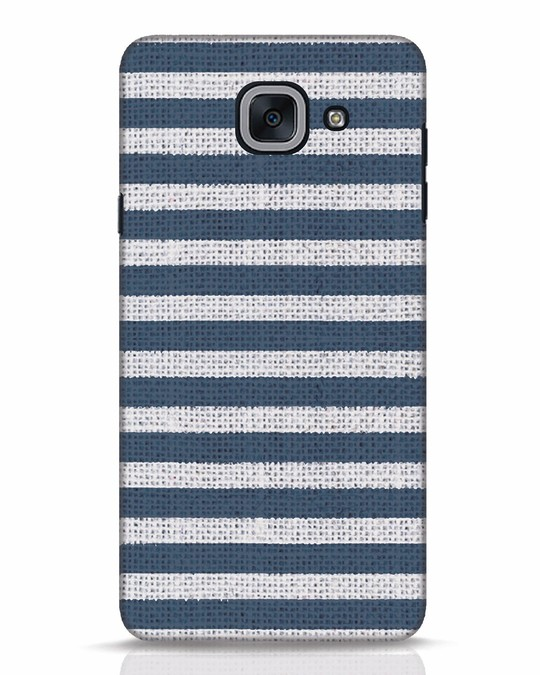 Shop Nautical Stripes Samsung Galaxy J7 Max Mobile Cover-Front
