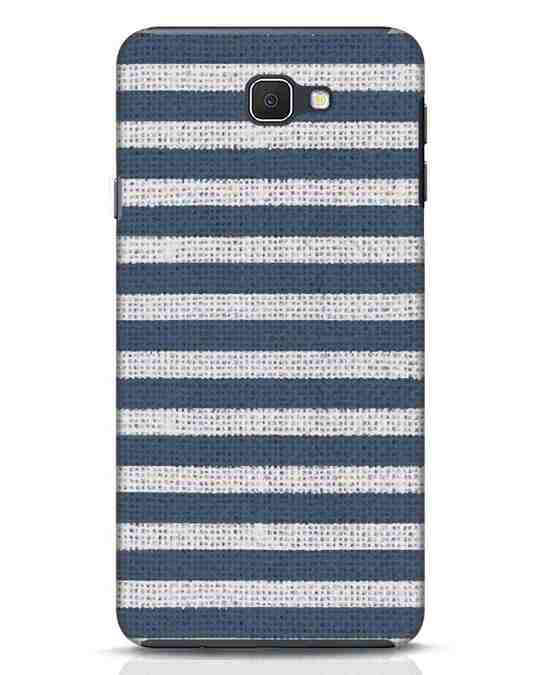 Shop Nautical Stripes Samsung Galaxy J7 Prime Mobile Cover-Front