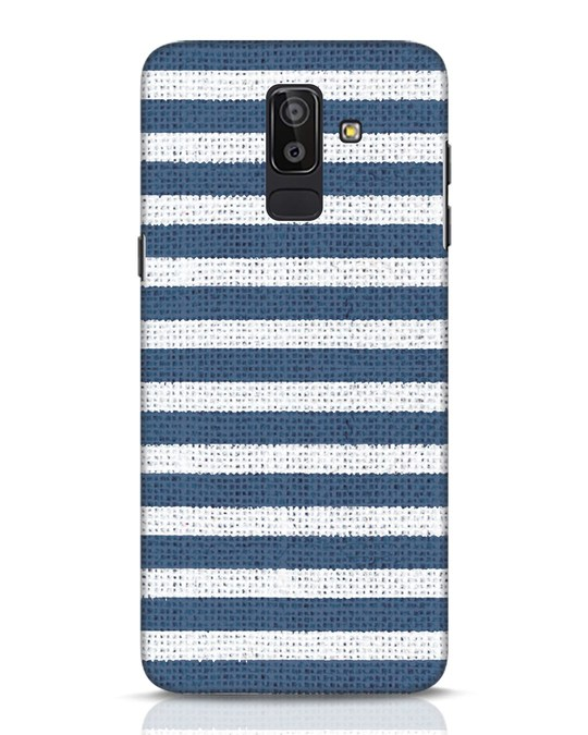 Shop Nautical Stripes Samsung Galaxy J8 Mobile Cover-Front