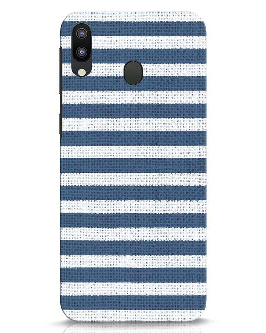 Shop Nautical Stripes Samsung Galaxy M20 Mobile Cover-Front