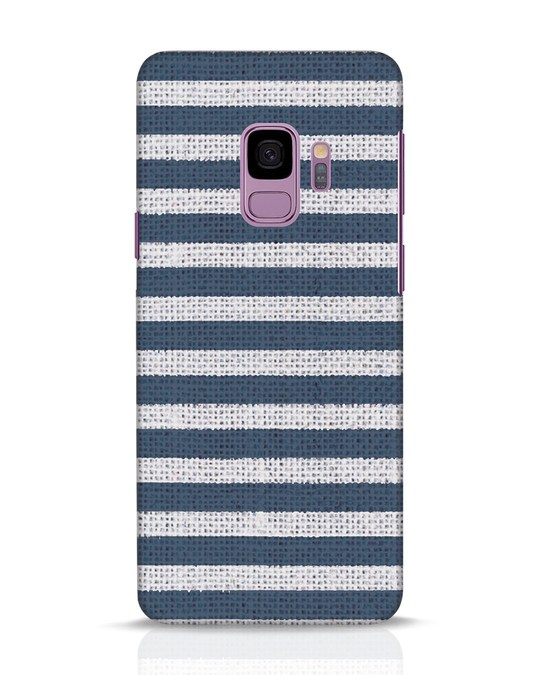 Shop Nautical Stripes Samsung Galaxy S9 Mobile Cover-Front