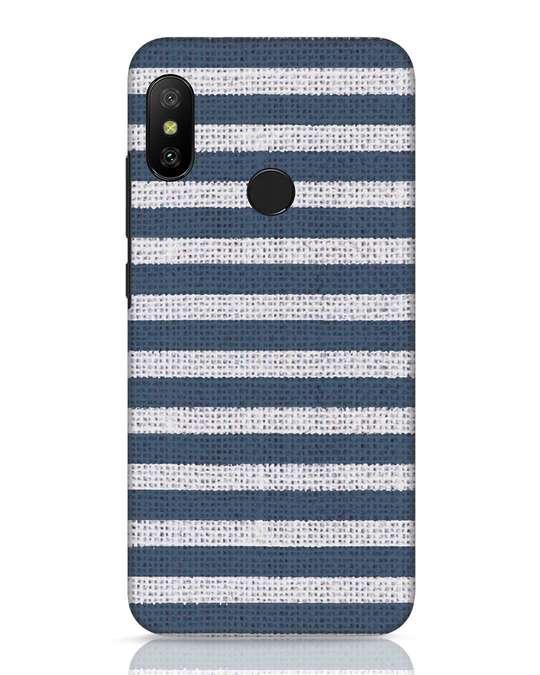 Shop Nautical Stripes Xiaomi Redmi 6 Pro Mobile Cover-Front