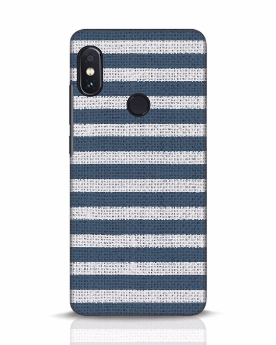 Shop Nautical Stripes Xiaomi Redmi Note 5 Pro Mobile Cover-Front