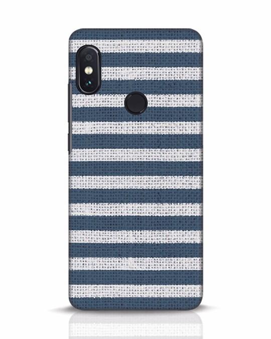 Shop Nautical Stripes Xiaomi Redmi Note 5 Pro Mobile Cover-Front