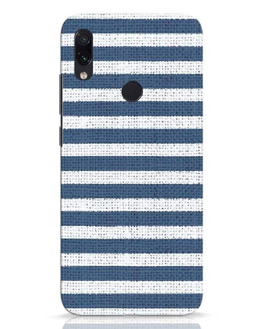 Shop Nautical Stripes Xiaomi Redmi Note 7 Mobile Cover-Front