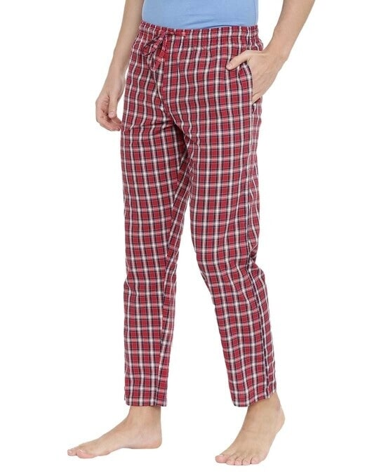 Shop Joven | Navy and White Checked Pyjamas-Design