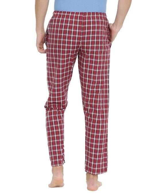 Shop Joven | Navy and White Checked Pyjamas-Full