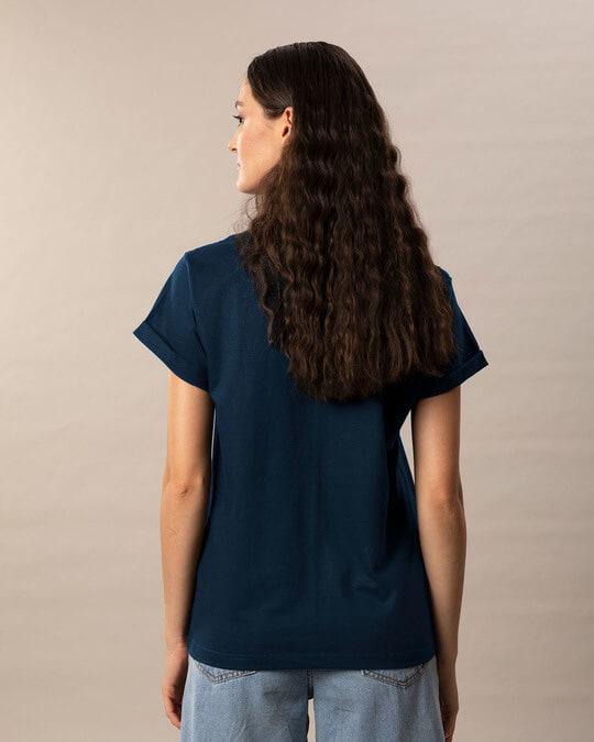 Shop Navy Blue Boyfriend T-Shirt-Full