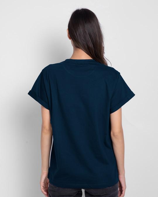 Shop Navy Blue Boyfriend T-Shirt-Design