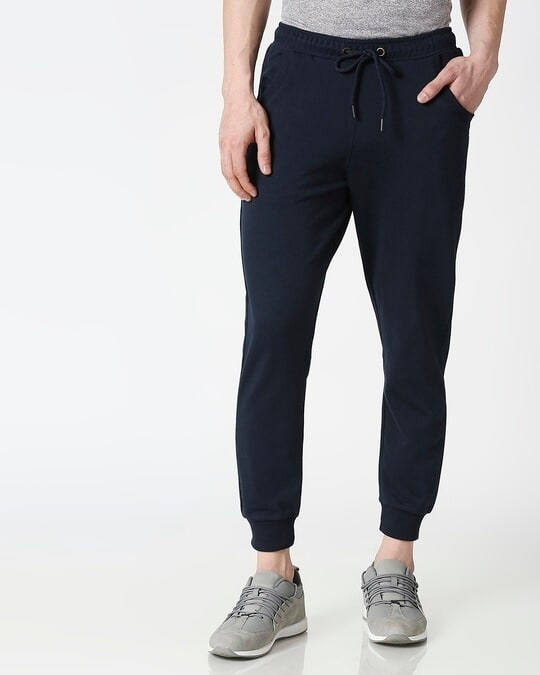 Shop Navy Blue Casual Jogger Pant-Back