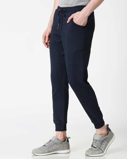 Shop Navy Blue Casual Jogger Pant-Design