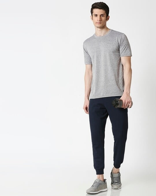 Shop Navy Blue Casual Jogger Pant