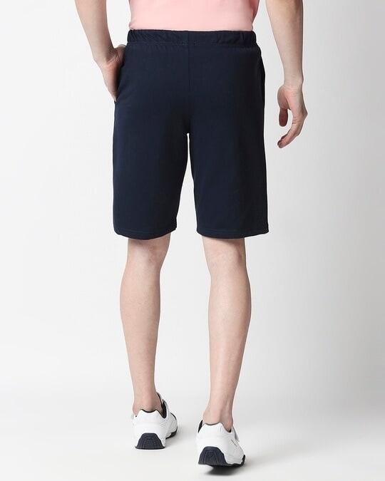 Shop Navy Blue Casual Shorts-Design