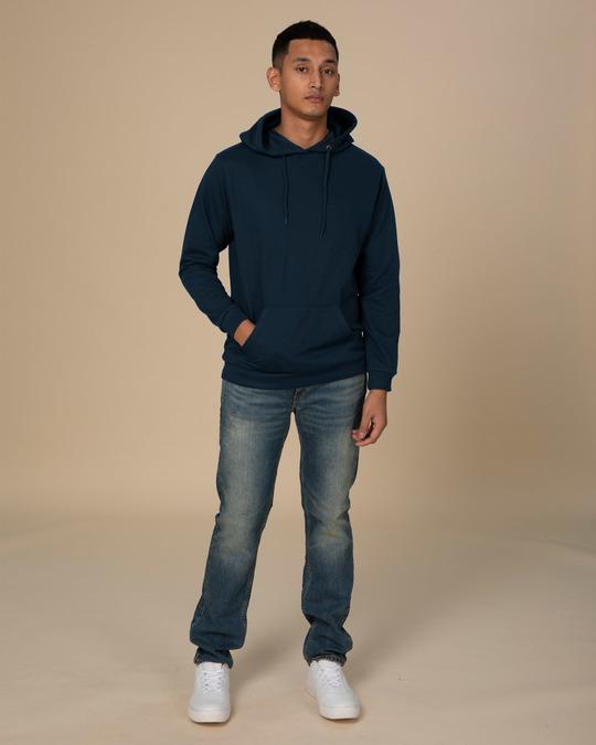 Shop Navy Blue Fleece Hoodies