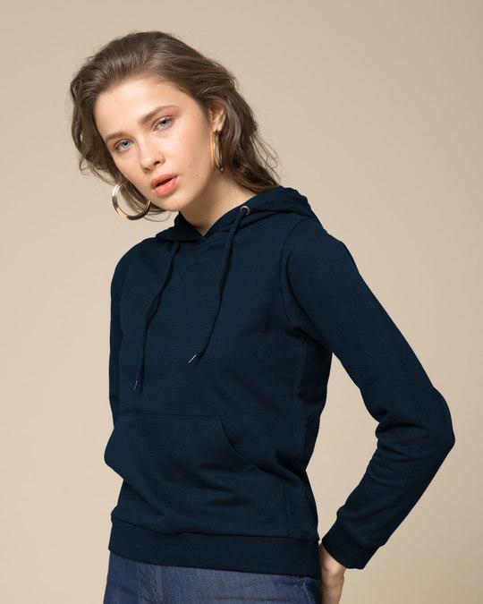 Shop Navy Blue Fleece Hoodies-Full