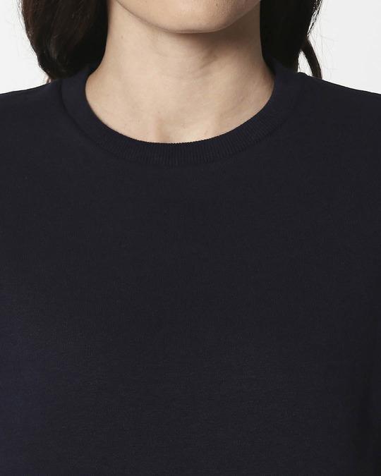 Shop Navy Blue Fleece Sweatshirt