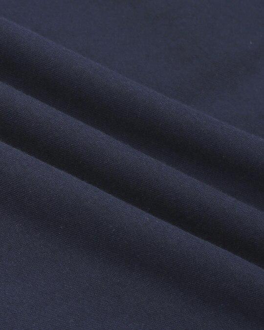 Shop Navy Blue Half Sleeve Plus Size T-Shirt