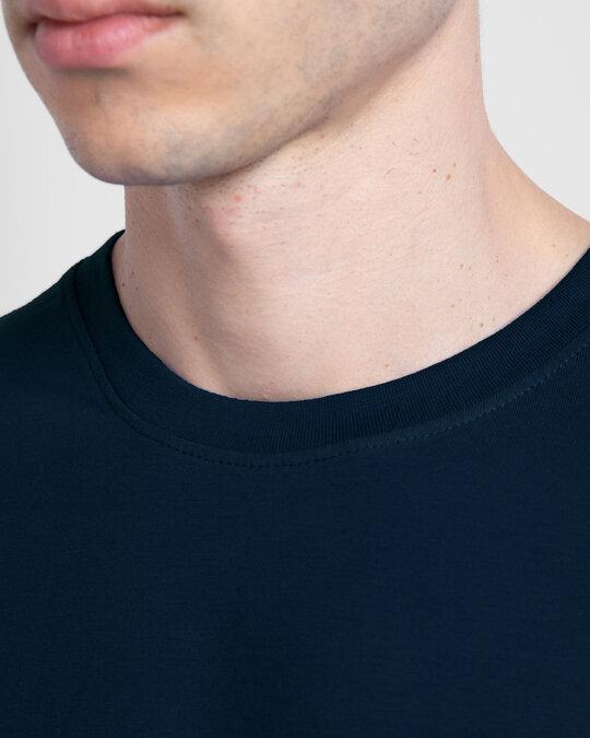 Shop Navy Blue Half Sleeve T-Shirt