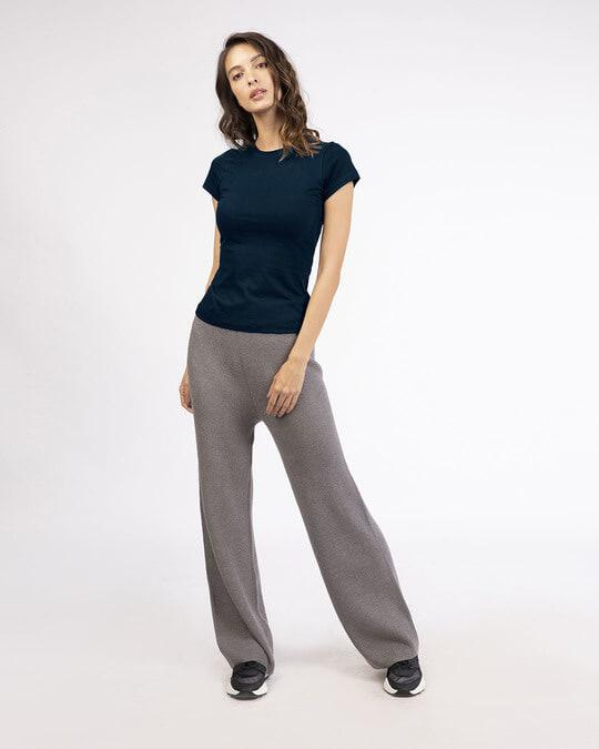 Shop Navy Blue Half Sleeve T-Shirt-Full