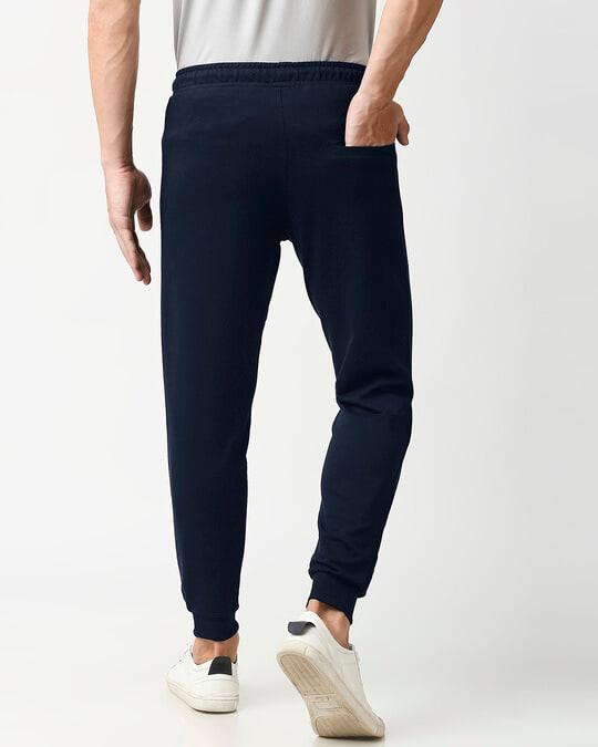 Shop Navy Blue Zipper Jogger-Design