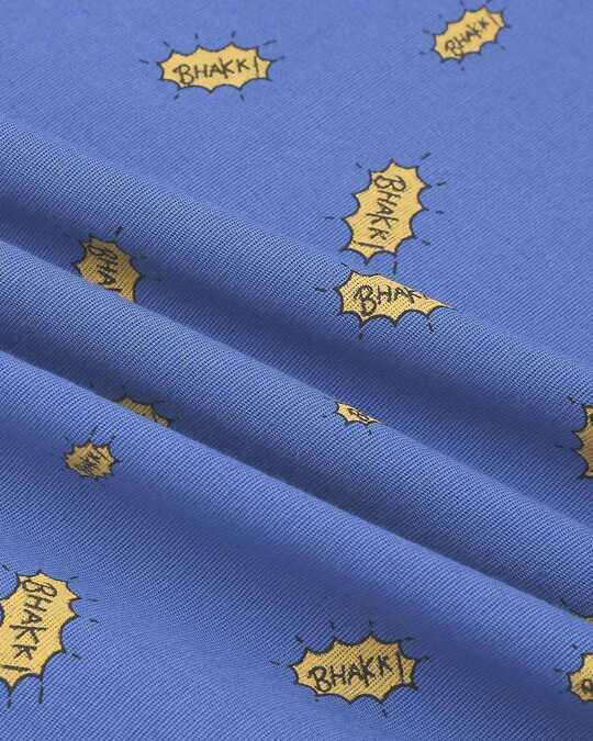 Shop Navy Blue Men's Indo Fusion Printed Long Kurta