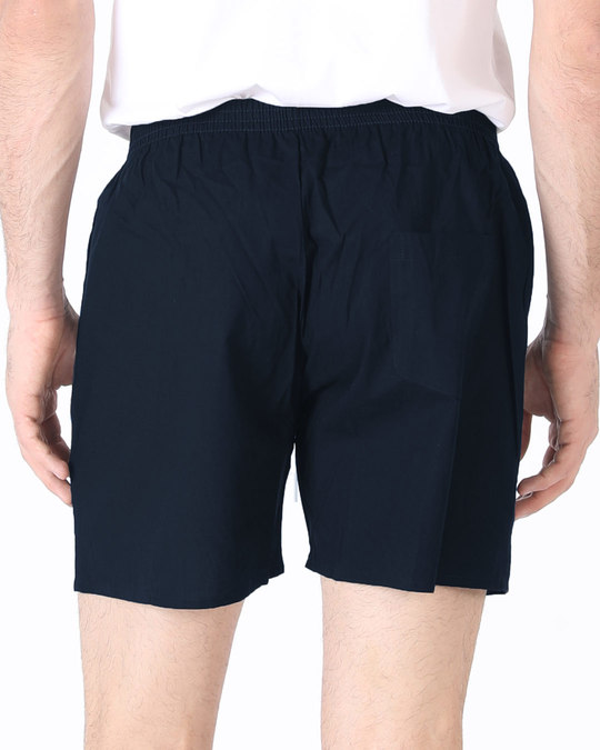 Shop Navy Blue Plain Boxer-Design