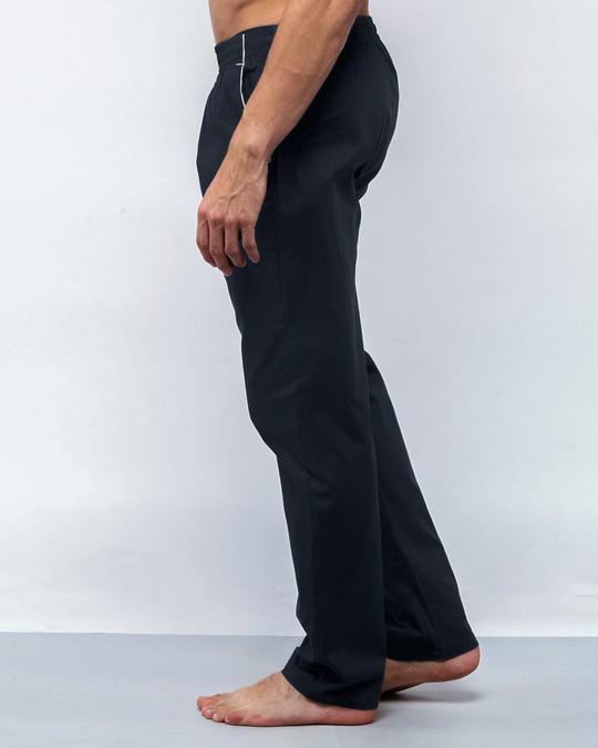 Shop Navy Blue Plain Pyjama-Back