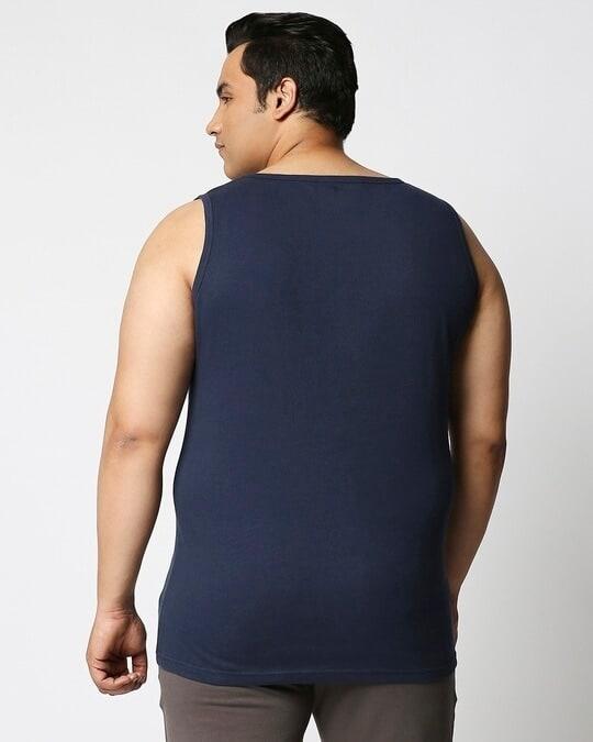 Shop Navy Blue Plus Size Vest-Design