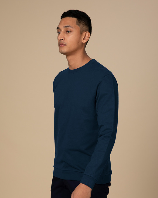 Shop Navy Blue Sweatshirt-Full