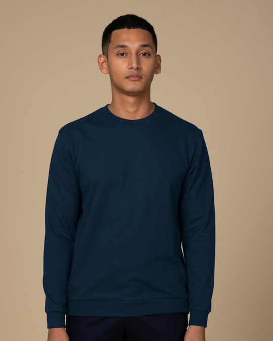 Shop Navy Blue Sweatshirt-Front