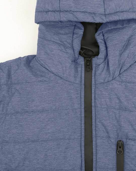 Shop Navy Melange Chill Block Melange Puffer Jacket