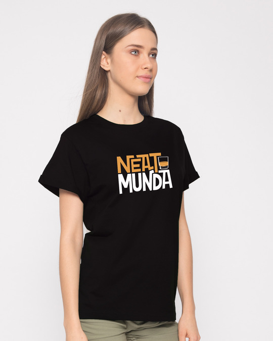 Shop Neat Munda Boyfriend T-Shirt-Back