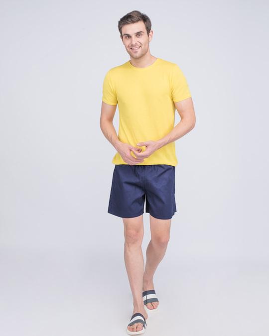 Shop Nebula Blue Plain Boxer-Full