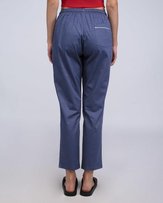 Shop Nebula Blue Plain Pyjama