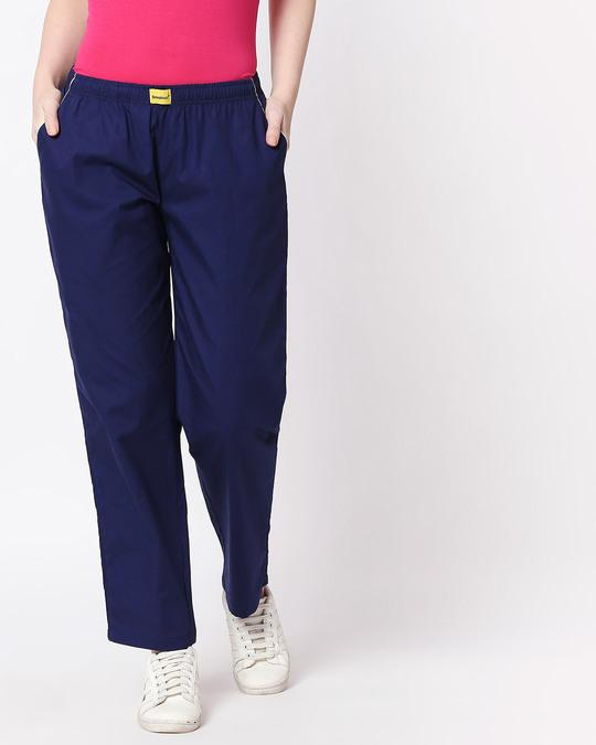 Shop Nebula Blue Plain Pyjama-Design