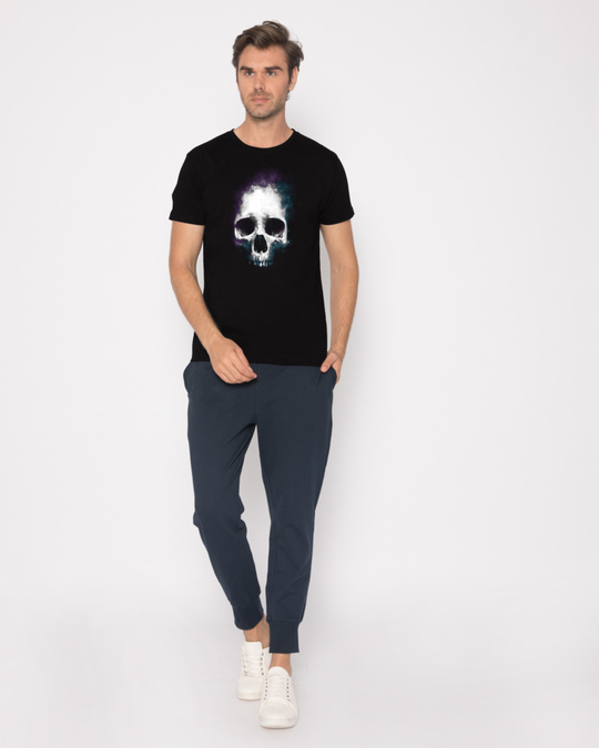 Shop Nebula Skull Half Sleeve T-Shirt