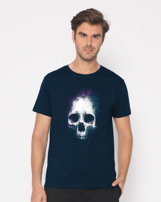 Shop Nebula Skull Half Sleeve T-Shirt-Back
