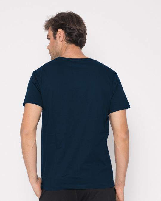 Shop Nebula Skull Half Sleeve T-Shirt-Full
