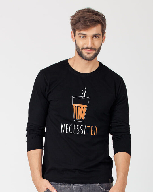 Shop Necessitea Full Sleeve T-Shirt-Front