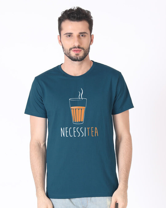 Shop Necessitea Half Sleeve T-Shirt-Back