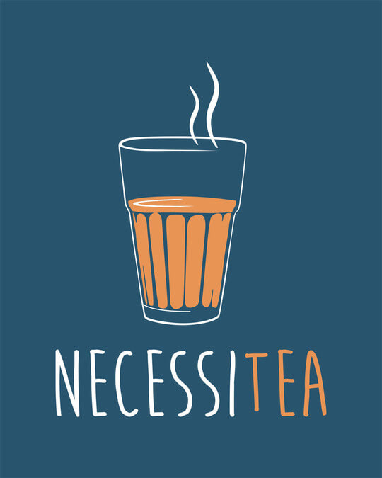 Shop Necessitea Half Sleeve T-Shirt