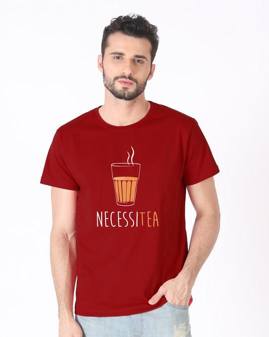 Shop Necessitea Half Sleeve T-Shirt-Back