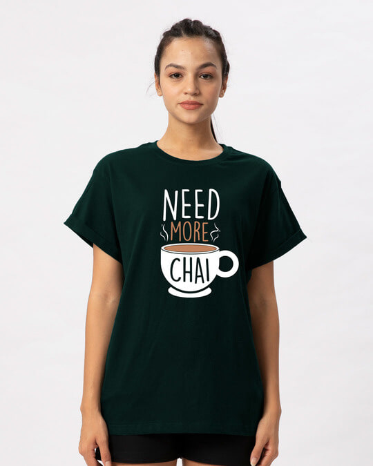 Shop Need Chai Boyfriend T-Shirt-Front