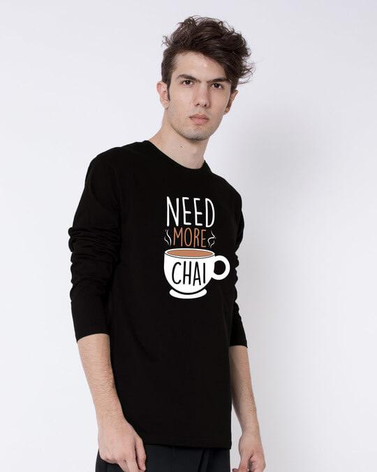 Shop Need Chai Full Sleeve T-Shirt-Back