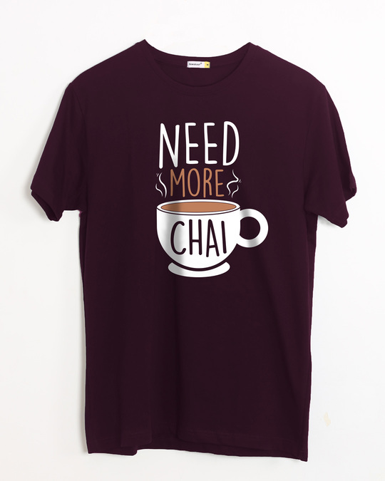 Shop Need Chai Half Sleeve T-Shirt-Front