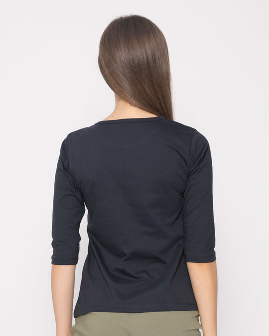 Shop Need Chai Round Neck 3/4th Sleeve T-Shirt-Back