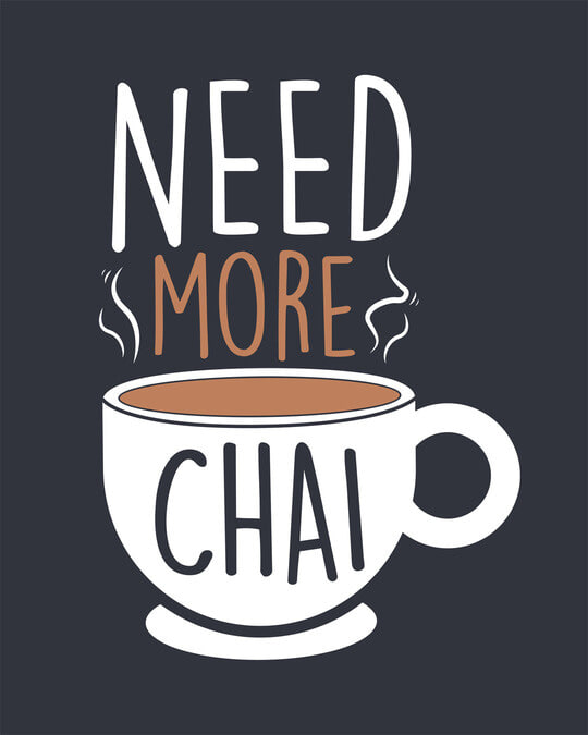 Shop Need Chai Round Neck 3/4th Sleeve T-Shirt-Full