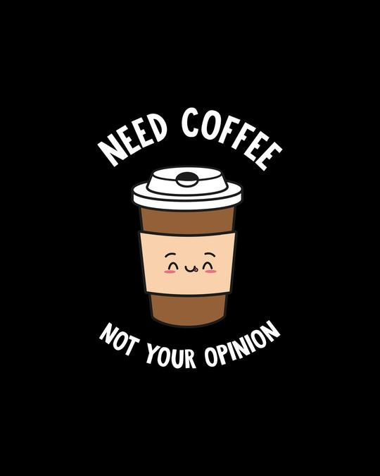 Shop Need Coffee Boyfriend  T-Shirt Black-Full