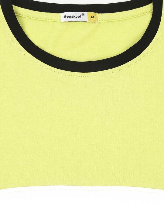 Shop Need More Amo Half Sleeves Color Block T-Shirt